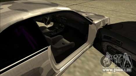Nissan Silvia S14 Army Drift pour GTA San Andreas sur la vue arrière gauche