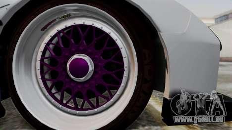 Mazda RX-7 Black Rock Shooter Itasha für GTA San Andreas zurück linke Ansicht