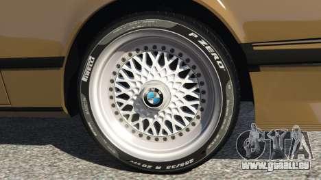 GTA 5 BMW M635 CSI (E24) 1986 arrière droit vue de côté