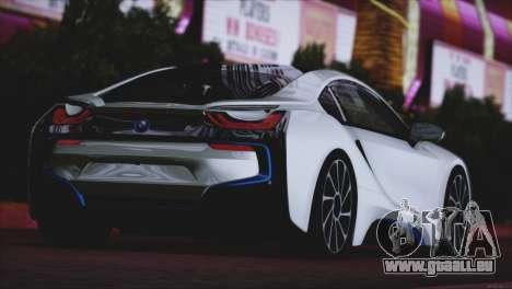BMW i8 Coupe 2015 für GTA San Andreas rechten Ansicht
