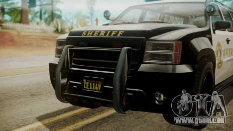GTA 5 Declasse Granger Sheriff SUV IVF für GTA San Andreas rechten Ansicht