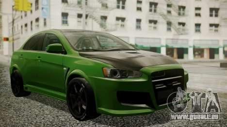Mitsubishi Lancer Evolution X WBK für GTA San Andreas