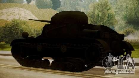 T2 Light Tank für GTA San Andreas linke Ansicht