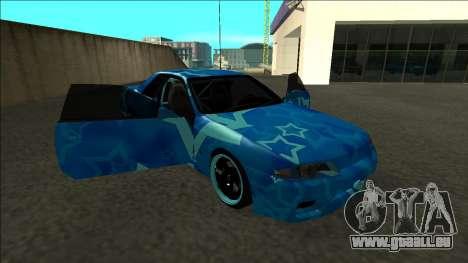 Nissan Skyline R32 Drift Blue Star pour GTA San Andreas vue de côté