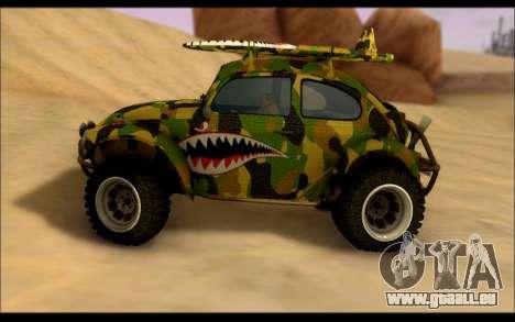 Volkswagen Baja Buggy Camo Shark Mouth pour GTA San Andreas laissé vue