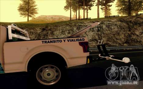 Ford F150 2015 Towtruck für GTA San Andreas obere Ansicht