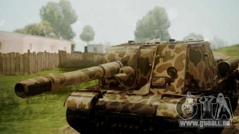 ISU-152 Panther Desert from World of Tanks pour GTA San Andreas vue de droite
