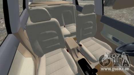Daewoo Nubira I Spagon 1.8 DOHC 1998 pour GTA 4 est une vue de l'intérieur