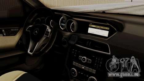 Mercedes-Benz C63 AMG STSI das Ministerium von i für GTA San Andreas rechten Ansicht