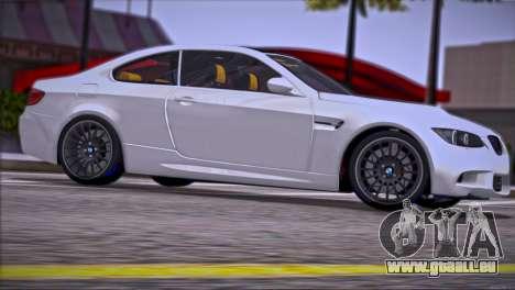 BMW M3 E92 2008 für GTA San Andreas Motor