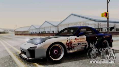 Mazda RX-7 Black Rock Shooter Itasha pour GTA San Andreas