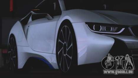 BMW i8 Coupe 2015 pour GTA San Andreas vue intérieure