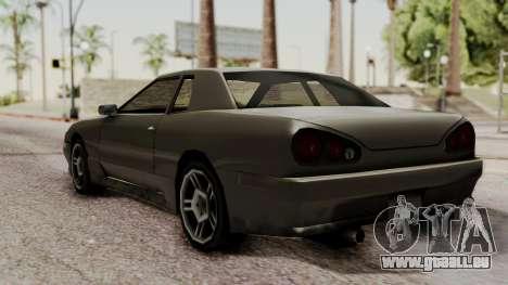 Elegy The Gold Car 2 pour GTA San Andreas sur la vue arrière gauche