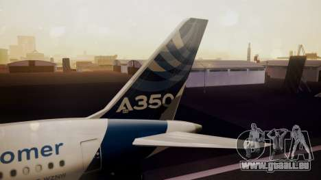 Airbus 350-900XWB Qatar Launch Customer für GTA San Andreas zurück linke Ansicht