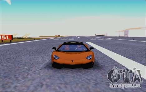 Lamborghini Aventador MV.1 [IVF] pour GTA San Andreas vue intérieure