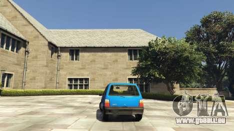 GTA 5 VAZ 1111 Oka arrière vue latérale gauche