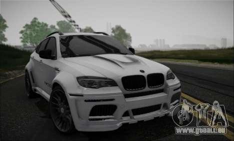 BMW X6M HAMANN Final pour GTA San Andreas vue intérieure