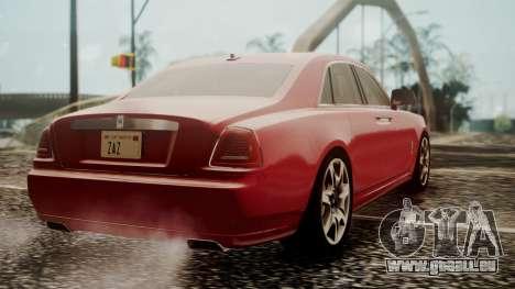 Rolls-Royce Ghost v1 pour GTA San Andreas laissé vue