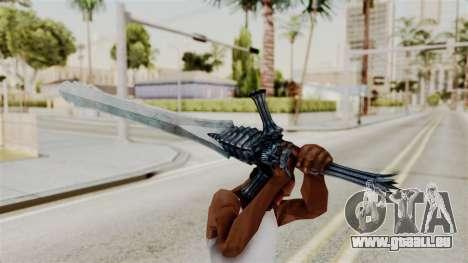 Katana from RE6 pour GTA San Andreas troisième écran