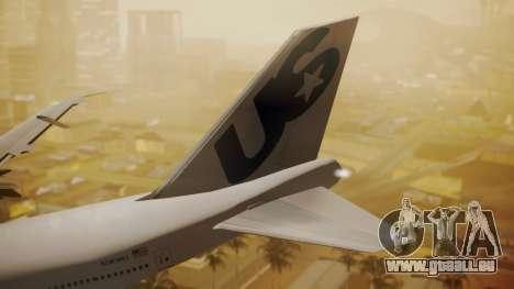 Boeing 747-200 Fly US pour GTA San Andreas sur la vue arrière gauche