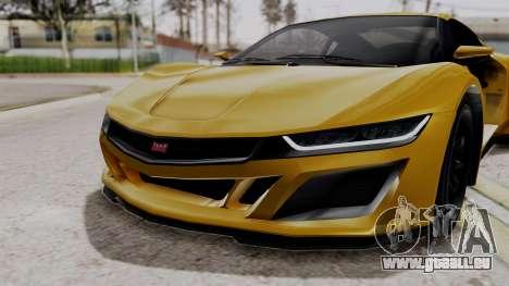 Dinka Jester Sparkle für GTA San Andreas Rückansicht