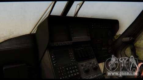 KA 60 l'hirondelle pour GTA San Andreas vue intérieure