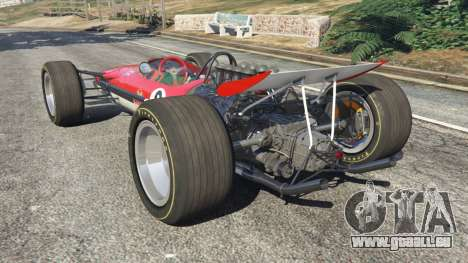 GTA 5 Lotus 49 1967 [ailerons] arrière vue latérale gauche