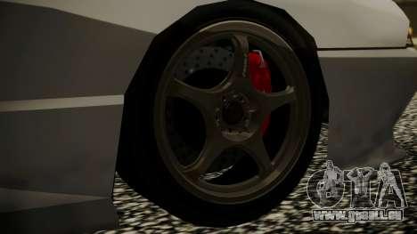 Elegy NR32 without Neon pour GTA San Andreas sur la vue arrière gauche