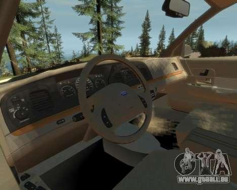 2003 Ford Crown Victoria pour GTA 4 Vue arrière