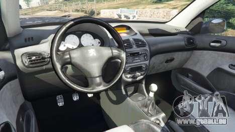 GTA 5 Peugeot 206 GTI droite vue latérale