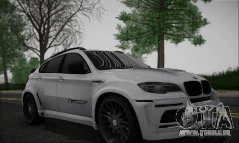 BMW X6M HAMANN Final pour GTA San Andreas laissé vue