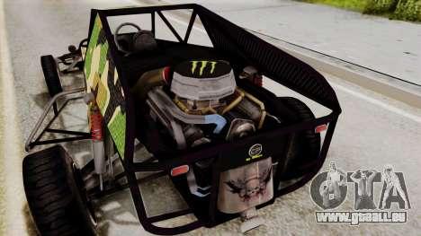 Buggy Camo Shark Mouth für GTA San Andreas Innenansicht