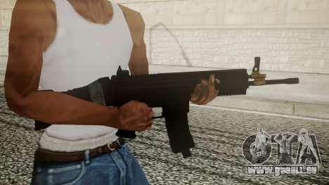 SCAR-L Battlefield 3 pour GTA San Andreas troisième écran