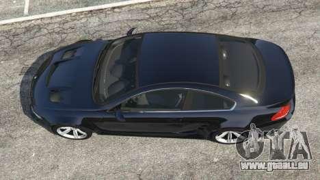 GTA 5 BMW M6 (E63) WideBody v0.1 vue arrière