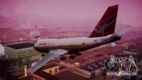 Boeing 747SP Qantas Gold pour GTA San Andreas laissé vue