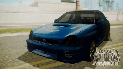 Subaru Impreza WRX GDA für GTA San Andreas obere Ansicht