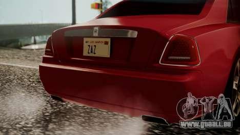 Rolls-Royce Ghost v1 pour GTA San Andreas vue arrière
