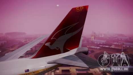 Boeing 747SP Qantas Gold pour GTA San Andreas sur la vue arrière gauche