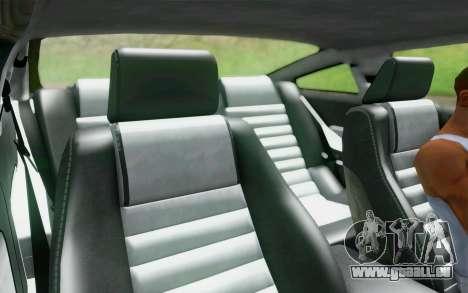 Ford Mustang GT 2005 pour GTA San Andreas vue de dessus