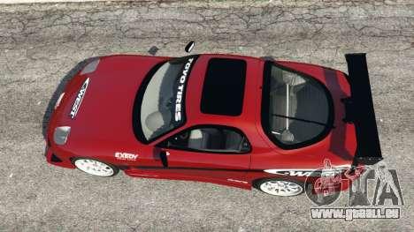 GTA 5 Mazda RX-7 C-West v1.0 vue arrière