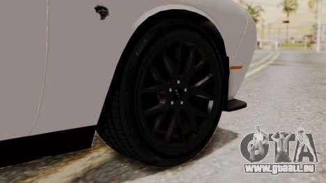 Dodge Challenger SRT Hellcat 2015 HQLM PJ für GTA San Andreas zurück linke Ansicht
