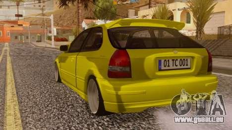 Honda Civic Taxi für GTA San Andreas linke Ansicht