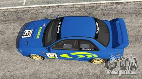 GTA 5 Subaru Impreza WRC 1998 vue arrière