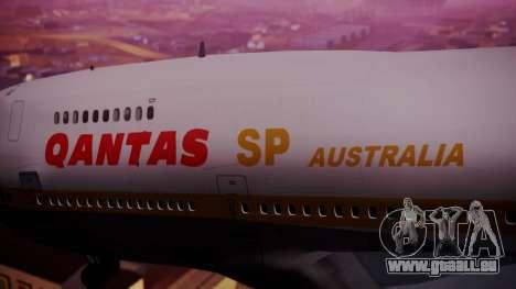Boeing 747SP Qantas Gold pour GTA San Andreas vue de droite