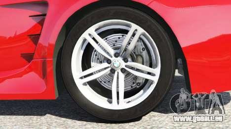 GTA 5 BMW M6 (E63) WideBody v0.1 [red] arrière droit vue de côté