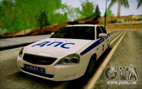VAZ 2170 Priora DPS pour GTA San Andreas vue arrière