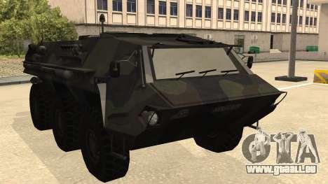 TPz 1 Fuchs Hummel für GTA San Andreas zurück linke Ansicht