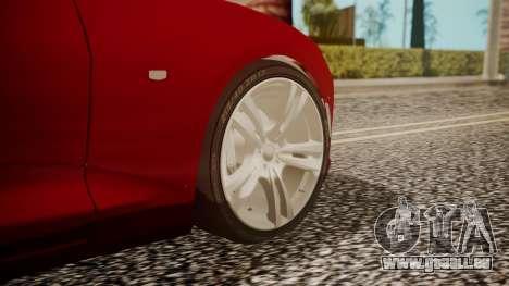 Chevrolet Camaro SS 2016 pour GTA San Andreas sur la vue arrière gauche