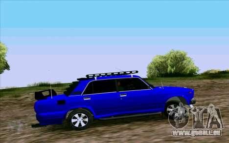 VAZ 2107 Tuning pour GTA San Andreas laissé vue