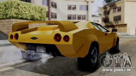 Infernus from Vice City Stories für GTA San Andreas rechten Ansicht